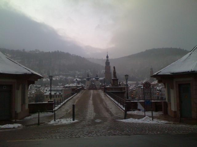 雪景色のハイデルベルク